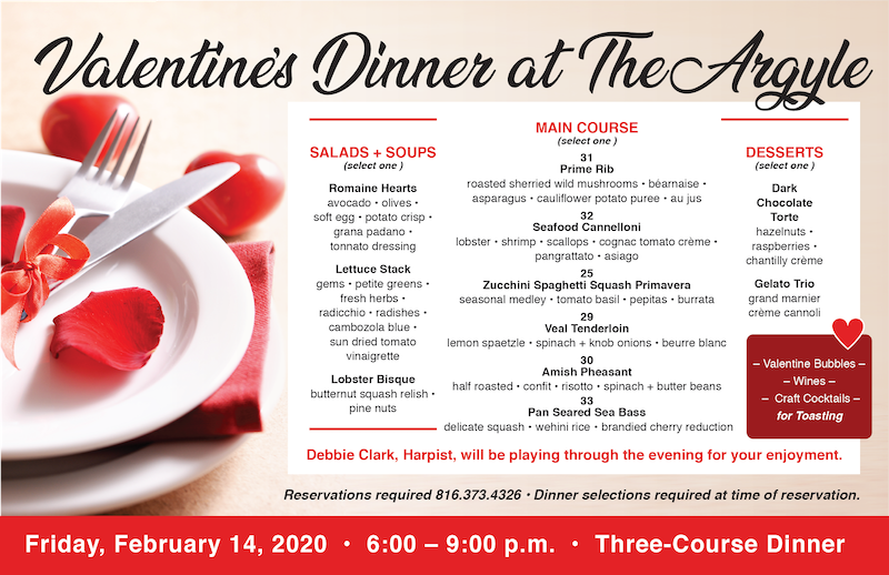 Valentine's Dinner at The Argyle